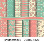 set of abstract vector paper... | Shutterstock .eps vector #398837521