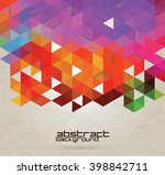 abstract geometric background.  | Shutterstock .eps vector #398842711