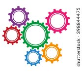 colored gears | Shutterstock .eps vector #398844475