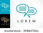 speech bubbles vector logo | Shutterstock .eps vector #398847061