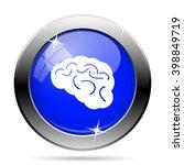 brain icon. internet button on... | Shutterstock .eps vector #398849719