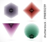 set of abstract geometric... | Shutterstock .eps vector #398850259