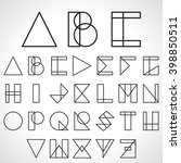 font  abc  alphabet in... | Shutterstock .eps vector #398850511