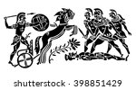 background in the greek style....   Shutterstock .eps vector #398851429
