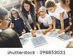 school teacher teaching... | Shutterstock . vector #398853031