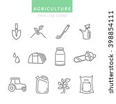 set with agriculture thin line...   Shutterstock .eps vector #398854111