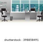 office interior vector business ... | Shutterstock .eps vector #398858491