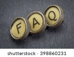 faq  frequently asked questions ... | Shutterstock . vector #398860231