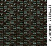 seamless block pattern | Shutterstock .eps vector #398861185