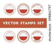 polish flag grunge rubber stamp ...   Shutterstock .eps vector #398861797