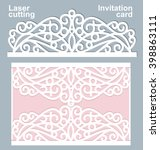 vector die laser cut wedding... | Shutterstock .eps vector #398863111