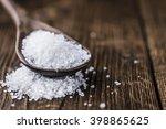 coarse salt  selective focus ... | Shutterstock . vector #398865625