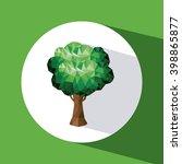 tree icon design  | Shutterstock .eps vector #398865877