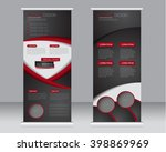 roll up banner stand template.... | Shutterstock .eps vector #398869969