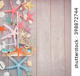 marine life with seashells  ... | Shutterstock . vector #398872744