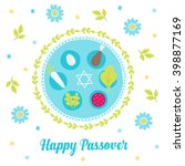 passover greeting card with... | Shutterstock .eps vector #398877169