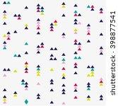 seamless triangle pattern.... | Shutterstock .eps vector #398877541