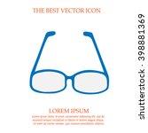 glasses vector icon. simple... | Shutterstock .eps vector #398881369