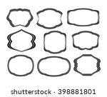 set frames .black on white... | Shutterstock .eps vector #398881801