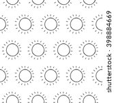 cartoon sun pattern with hand... | Shutterstock .eps vector #398884669