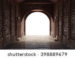 walkway tunnel made by red... | Shutterstock . vector #398889679