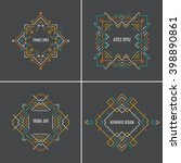 perfect vector set of modern... | Shutterstock .eps vector #398890861