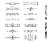 aztec border collection made in ... | Shutterstock .eps vector #398890951