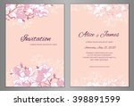 elegant floral background for... | Shutterstock .eps vector #398891599