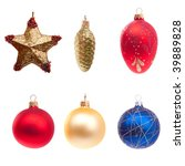 set of christmas toys from 6... | Shutterstock . vector #39889828