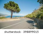 mediterranean asphalt road with ... | Shutterstock . vector #398899015