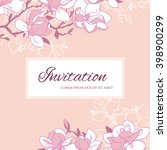 elegant floral background for... | Shutterstock .eps vector #398900299