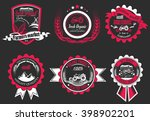 vector retro set of farm fresh... | Shutterstock .eps vector #398902201