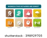 business ethics flat icon set | Shutterstock .eps vector #398929705