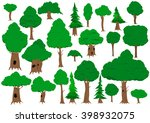 vector illustrated collection... | Shutterstock .eps vector #398932075