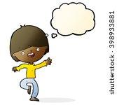 cartoon happy boy dancing with... | Shutterstock .eps vector #398933881