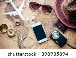 tourism planning and equipment... | Shutterstock . vector #398935894