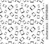 raster seamless black and white ... | Shutterstock . vector #398938684