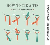 instructions on how to tie a... | Shutterstock . vector #398939221