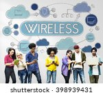 wireless wifi connection... | Shutterstock . vector #398939431