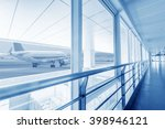 interior of the shanghai pudong ... | Shutterstock . vector #398946121