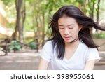 asia thai teenager women white...   Shutterstock . vector #398955061