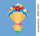 cute bouquet of flowers.... | Shutterstock .eps vector #398971927
