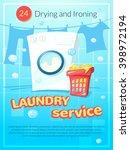 laundry service advertising... | Shutterstock .eps vector #398972194