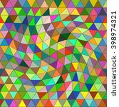 abstract multicilired  triangle ... | Shutterstock .eps vector #398974321