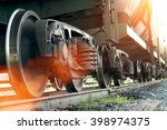 Railroad Train Of Black Tanker...