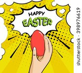happy easter card. background... | Shutterstock .eps vector #398976619