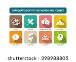 corporate identity flat icon set
