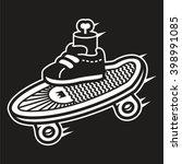 Skate Logo With Leg. Skate Log...