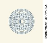 vintage flourishes ornament... | Shutterstock .eps vector #398998765