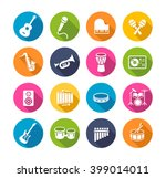collection of musical... | Shutterstock .eps vector #399014011